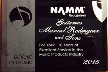 Rodriguez Guitars Award at NAMM 2015